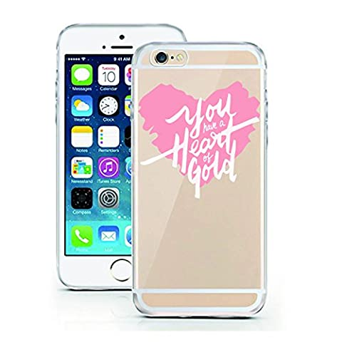 iPhone 6 6S Case by licaso for the iPhone 6 6S TPU Disney Case Pink Heart of Gold Love Clear Protective Cover iphone6 Mobile Phone Sleeve Bumper (iPhone 6 6S, You have a Heart of (Gold Disney Iphone 5s Case)
