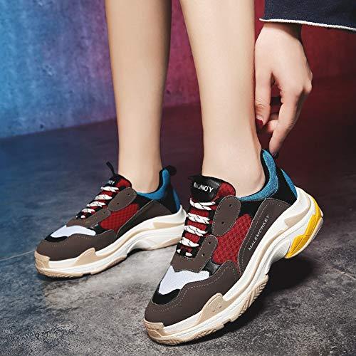Red Sportschuhe Sneakers Damen Blue HWF Sport Laufschuhe Gray Damenschuhe 40 Farbe Mesh Walking größe Atmungsaktive Casual OSBwnEnq
