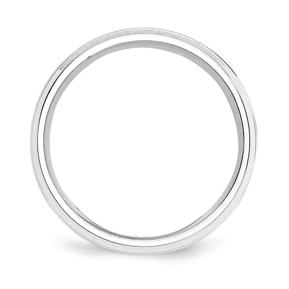 Sterling Silver Wedding Band Ring Beveled Standard Polished 8 mm SS 8mm Fancy B