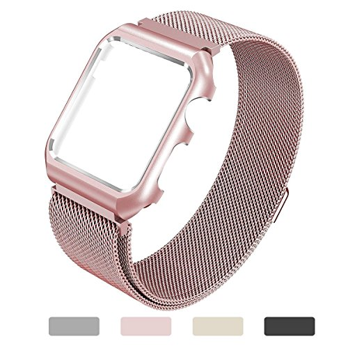 Yometome Apple Watch Band 38mm/42mm Case, Fashion Noble Luxury Magnetic Mesh Stainless Steel Bracelet Accessory Replacement Wristband for Apple iwatch Series 2 & Series 1