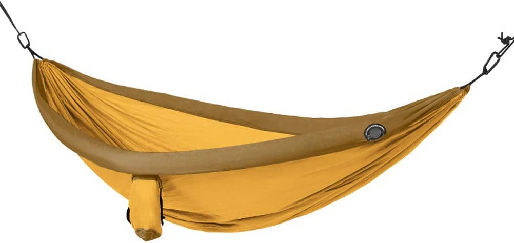 Hamaca para acampar de la playa portátil Swing Bed Ultralight Travel, Accesorios de playa para interiores y exteriores para 2 personas - Equipo de viaje para mochileros 79 × 39 pulgadas,Rainbow