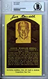 Joe Sewell Signed Autograph HOF Plaque Postcard - Beckett BAS Certified