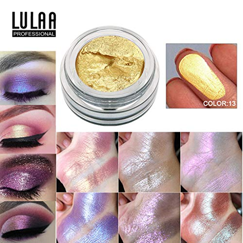 FORUU Women's Eyeshadow, 2019 Valentine's Day Surprise Best Gift For Girlfriend Lover Wife Party Under 5 Free delivery 14 Colors Jelly Gel Highlighter Make Up Concealer Shimmer Face Glow Hi ()