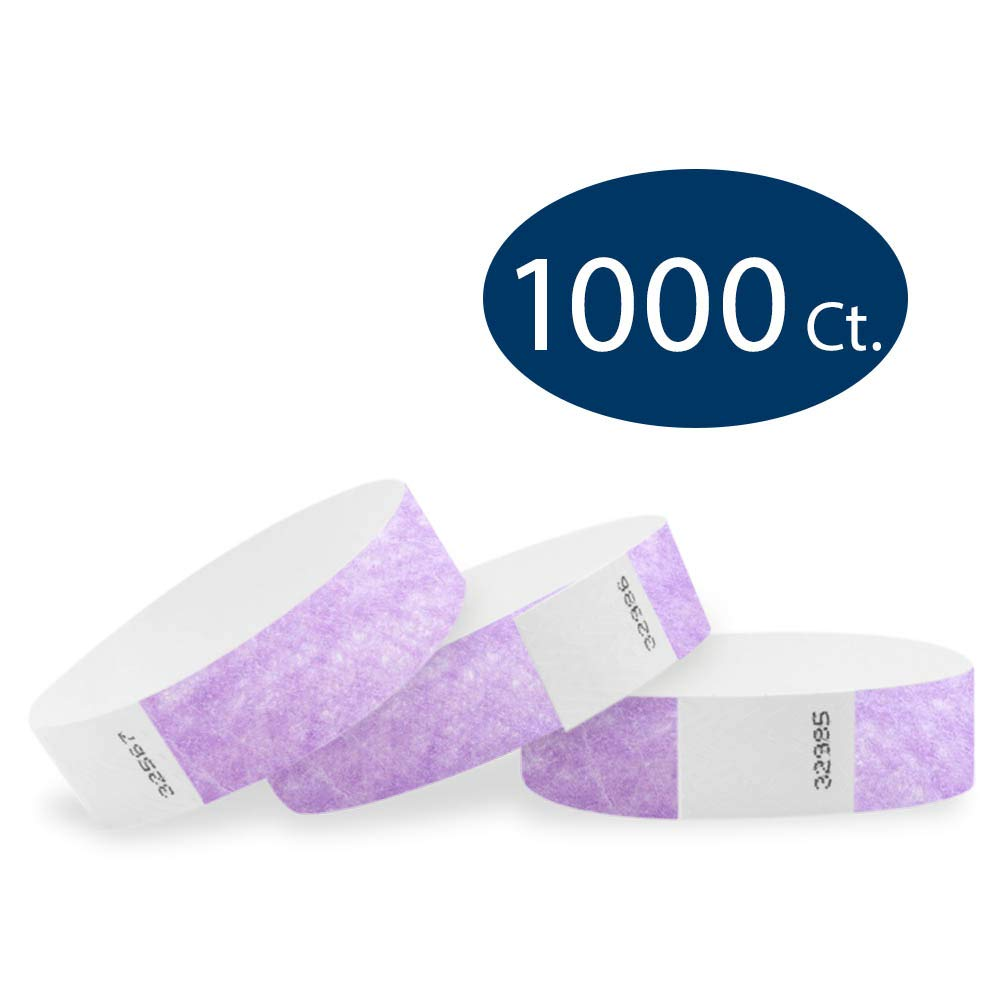 WristCo Berry 3/4'' Tyvek Wristbands - 1000 Pack Paper Wristbands for Events by Wristco