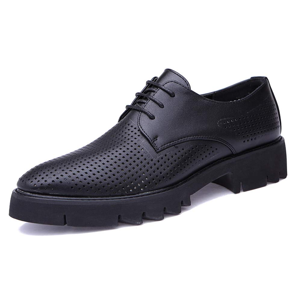 Oxford Shoes Men's Business Oxford Casual Summer New Breathable Hollow Classic Outsole Formal Shoes Business Shoes for Men (Color : Black, Size : 9.5 M US)