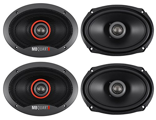 (4) MB QUART FKB169 6x9 300 Watt Car Stereo Coaxial Speakers