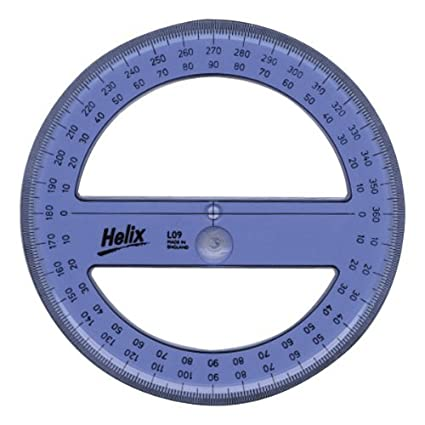 graphic relating to 360 Degree Protractor Printable titled HELIX 10cm / 360 stage Protractor H03