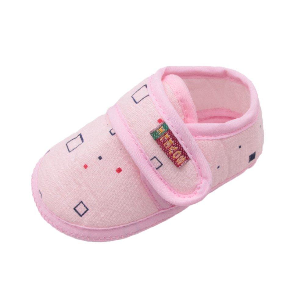 Dainzuy Infant Baby Boys Girls Cartoon Animal Print Squeaky Sandals Shoes Sneakers (2 M US, Pink4)