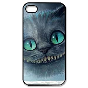 Elegant Design Hard Case Back Cover Case Cheshire Cat Quotes We Are All Mad Here for iphone 5 5s 4G -Black030901