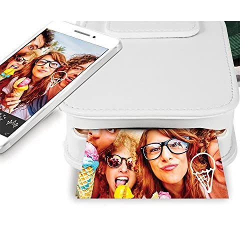 Prugna HP Sprocket Photo Printer Case PU Leather, Shockproof, Not Hide the Photo Outlet, Protective Case with Gift Picture Frame
