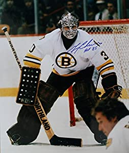 Signed 16x20 Photo Gerry Cheevers Boston Bruins - Certified Autograph