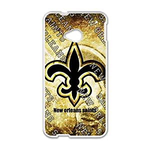 Happy New Orleans Sainls Fashion Comstom Plastic case cover For HTC One M7