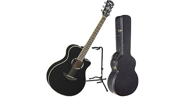 Yamaha apx500iii BL Thinline acústica guitarra eléctrica Negro w/funda y soporte: Amazon.es: Instrumentos musicales