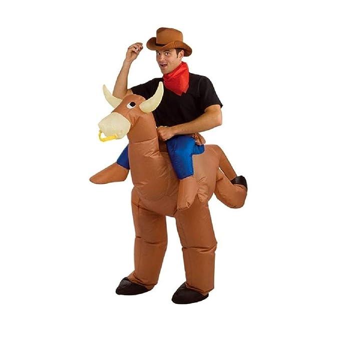 Amazon.com: Disfraz inflable de Bull Rider para adulto ...