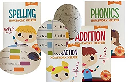 Workbook free phonics worksheets : Amazon.com: 1st Grade 8 Book Set Educational Activity Workbooks ...