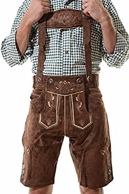 Lederhosen Costume Authentic Oktoberfest Lederhosen GEORG