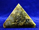 Large Labradorite Chakra Spiritual Healing Crystal Gem Pyramid Beverly Oaks Exclusive COA