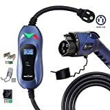 MUSTART Level 2 Portable EV Charger (240 Volt, 25ft Cable, 40 Amp), Electric Vehicle Charger Plug-in EV Charging Station with NEMA 6-50P (Update Version)