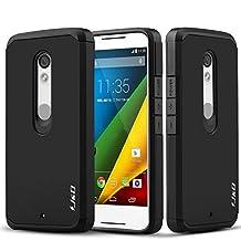 Motorola X Play Case, J&D [Armor Box] Moto X Play [Heavy Duty] [Dual Layer] Hybrid Shock Proof Fully Protective Case for Moto X Play (Moto X Play, Black)