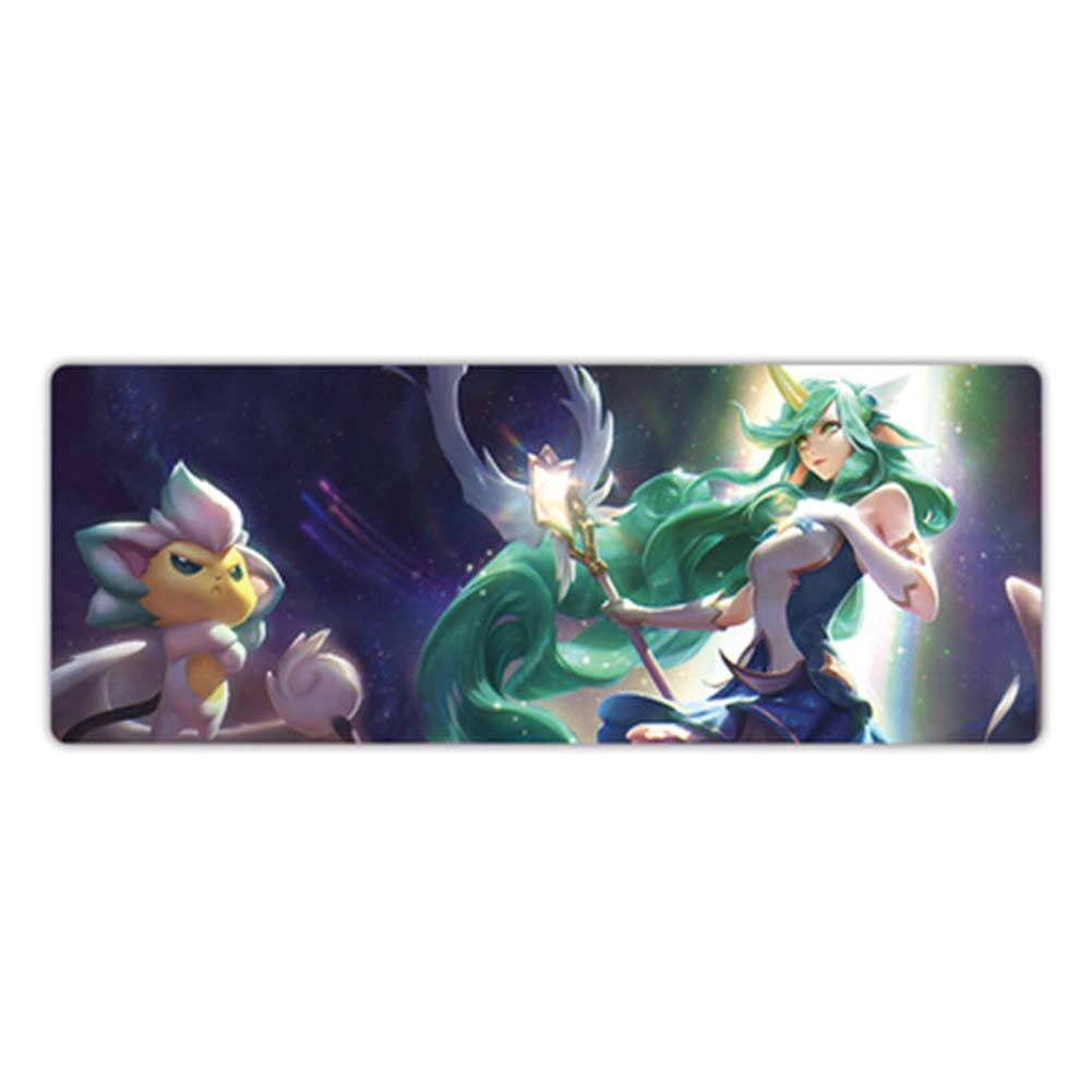 GUOFENG King Glory Mouse Game Pad Super Hero League Game Mouse Big Mouse Pad Hombres Grueso computadora computadora Pad Keyboard Pad, Color26, 800  300  3mm 5c4974