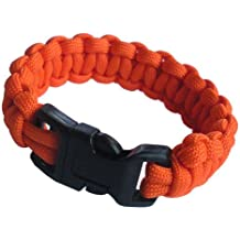 Paracord Planet Nylon 550lb Type III 7 Strand Paracord Basic Survival Bracelets Made in the U.S.A.