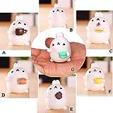 Kawaii Slow Soft Rising Squishy Squeezen Dingding Cute Mini Cat Fidget Toy Stress Reliever Kids Toy Gift Raptop (E 3)