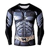 IdeaBox Men's Compression Shirt Super Hero Long Sleeve Workout Fitness Shirt