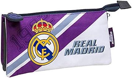 Real Madrid – Estuche escolar Triple malva real Madrid club: Amazon.es: Oficina y papelería