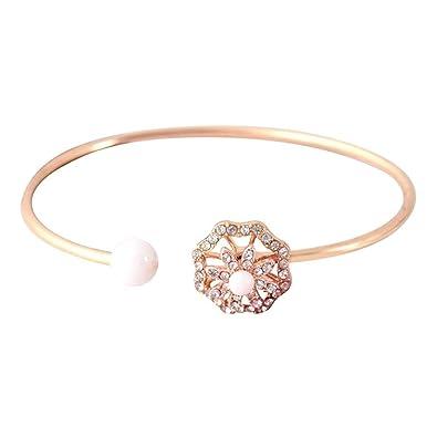 Amazon Com Remiel Store Sterling Silver Bracelet Simple Open