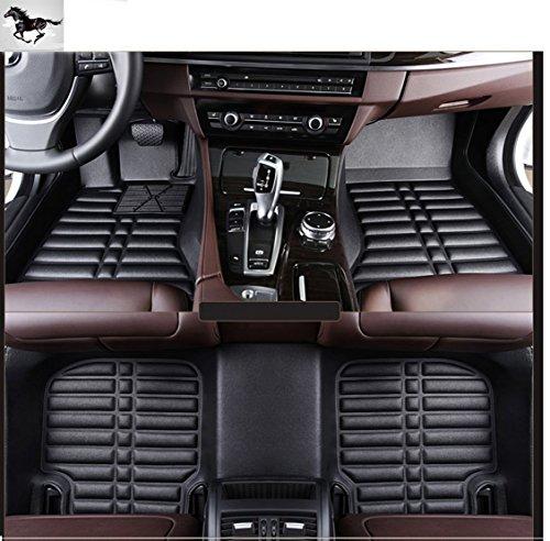 Auto mall Custom Fit Heavy Duty Full Set Floor Mats Carpet for Jeep Grand Cherokee 2014-2018(Black)