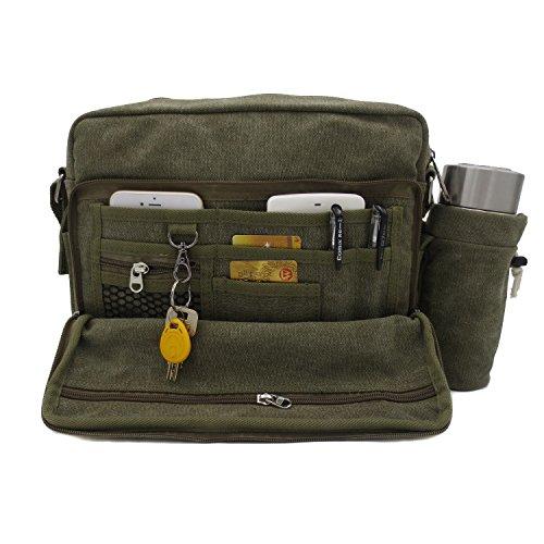 Messenger Shoulder Purse Bag Canvas Multifunctional Mens Womens ... 1f45ed7b3eccb