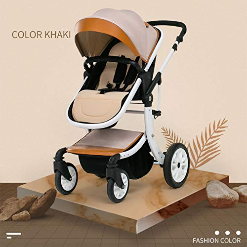 All Terrain Stroller Rapid 4 Wheel Quick fold Pushchair with Canopy from Birth to 25 kg Suitable for Airplane-C from HOMEJYMADE