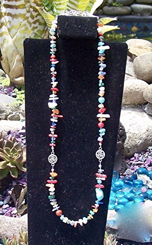Multicolor single strand medium length - Turquoise Necklace Strand Single