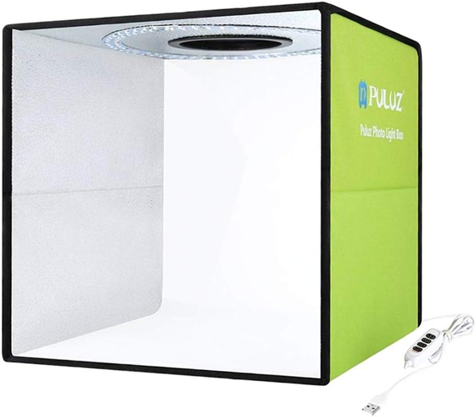 N/A Caja de Luz Fotografia, Estudio Fotográfico Portátil para Fotografía Tienda de Tiro de Estudio Plegable con Orificio Superior con Fondos de 6 Colores, Brillo Ajustable 65x42x40cm: Amazon.es: Electrónica