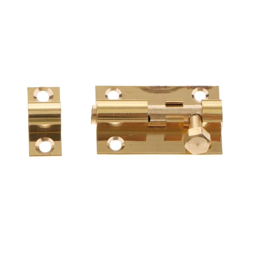 Outil de s/écurit/é abri de Chambre /à Coucher quanjucheer Verrou de Porte pour Salle de Bain Toilettes loquet Facile /à Installer