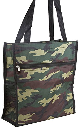Camo Canvas Tote Bag (Green Camo Travel Tote Bag 12-inch)