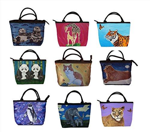 Animal Small Vegan Handbag - From My Original Paintings