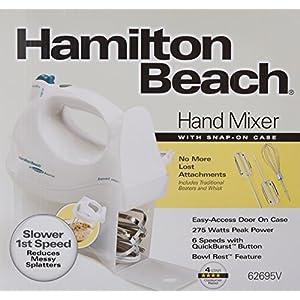 Hamilton Beach 62695V Power Deluxe Hand Mixer