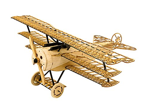 (3D Assembly Puzzle DIY Fokker DR1 Model Plane Wooden Craft Kit, Laser-Cut Balsa Airplane Kits to Build for Adults, Creative Brain Teaser Jigsaw Puzzles Model Aircraft Construction Set for Home Decor )