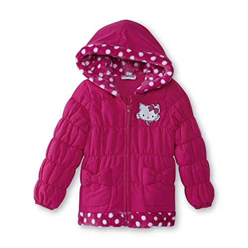 Toddler-Girls-Hot-Pink-Charmmy-Kitty-Puffer-Coat-Jacket