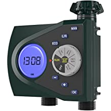 Gideon Dual-valve Hose Water Timer Sprinkler Timer Irrigation Controller System – Battery Operated; Easy Hose Connection with Simple to Use Digital System – For Garden, Flowers and Lawn
