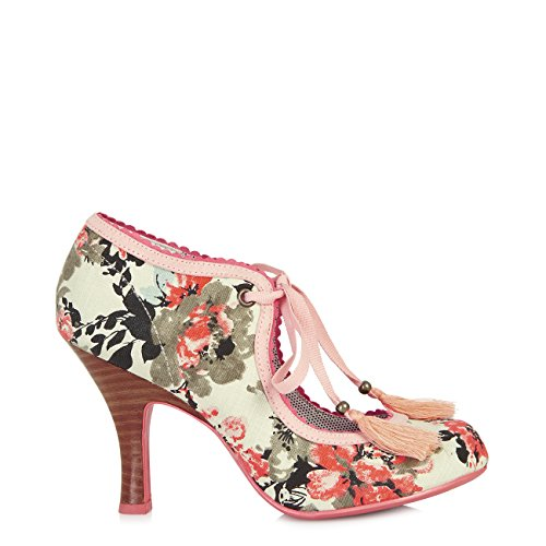 Belle Pink Divino Fabric Willow Protector White amp; Bootie Women's Ruby Shoo Free Sole Pumps q7B8FF