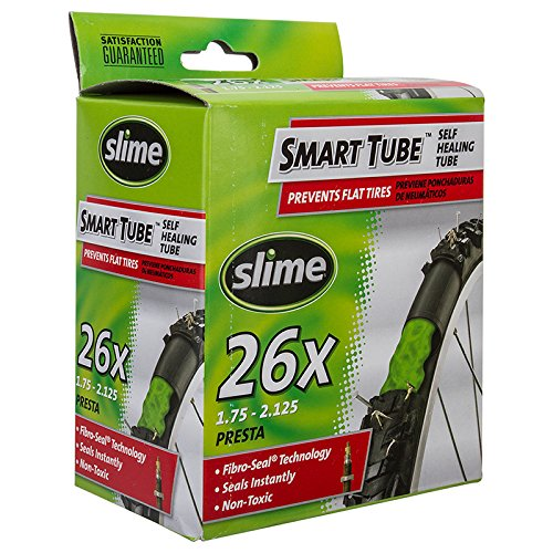 Slime Self-Healing 26/1.75-2.125 Bicycle Tube with PRESTA VALVE