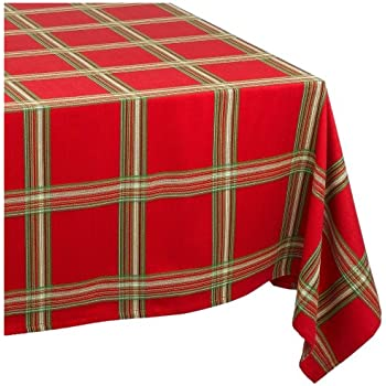 Lenox Holiday Gathering Plaid Tablecloth, 60 By 120 Inch Oblong/Rectangle