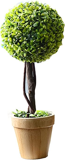 Amazon Com J Beauty Artificial Plant Topiary Ball Shrub Bush