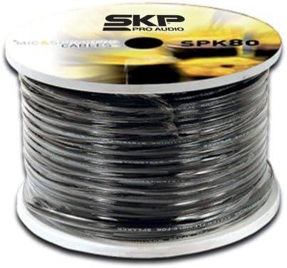 SKP PROオーディオspk-80 Ultra Flexスピーカーワイヤ( 2 x 12ゲージ)スプールX 328 ft。( 100mts。)