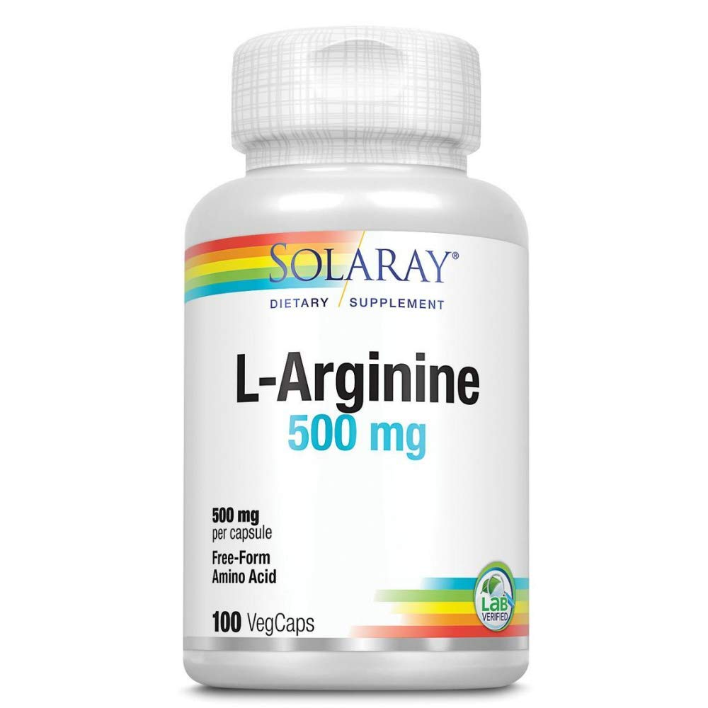 Solaray L-Arginine, 500 mg | 100 Count