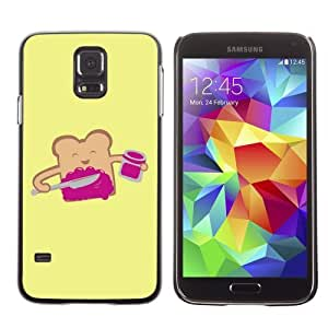 Designer Depo Hard Protection Case for Samsung Galaxy S5 / Smiling Toast