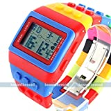 NEW Model!! NEW SPORT LED DIGITAL BRICK BINARY LEGO WATCH LCD MEN WOMEN WRISTBAND ADULT GIFT in Jewelry