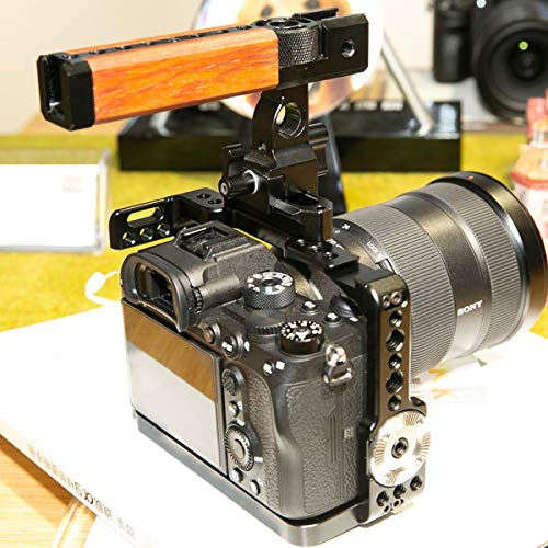 NICEYRIG Full Cage for A7Riv /A7Siii /A7Riii /A7iii /A7Sii /A7Rii /A7ii /A9 Sony Mirrorless Camera, with ARRI Rosette NATO Rail Locating Holes - 330
